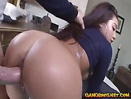 Asian Girl Played On Her Clit And Got Fingered By Dude