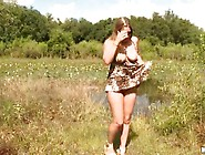 Carmen Knoxx Fingers And Playthings Her Beaver Inside A Forest