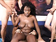 Busty Black Chick Layton Benton Gangbanged And Messy Facial