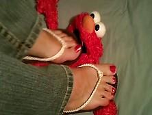 Flip Flops Crushing And Trampling Elmo