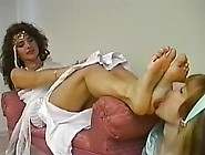 Two Cute Girls Lick Each Other's Lovely Feet And Toes Nice
