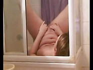 Pony Tailed Amateur Blonde Pisses In Her Own Mouth In Shower