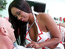 Curvy Nurse Codi Bryant Gets Her Black Pussy Fucked At Her Work