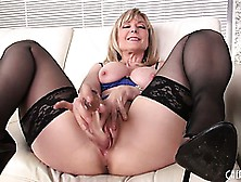 Lusty Blonde Milf Nina Hartley Gets Down And Dirty In A Solo Wit