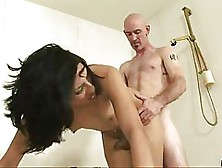 Black Haired Woman Went To Her Lover's Place To Have Sex Wi