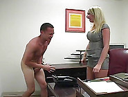 Boss Babe Abuses Her Employee And Kicks Him In The Balls