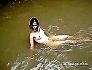 Hot Indian Desi Girl Nirupam Expoising Herself Nude In River For