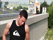 Big Tits Girl Public Street Gangbang By Guys With Big Dicks In B