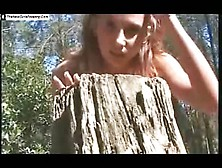Beautiful Girl Pooping In Nature