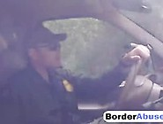 Amazing Brunette Bitch Fucked Hard Outdoor On The Border Video