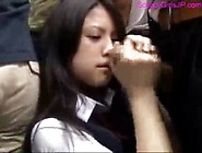 Japanese Girl Sucking Dick On The Train