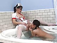 Sweet Lesbian Bitch In Nurse Suit Seduces Her Torrid Busty Pal I
