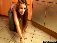 Emily18 Video: Teen Striptease In The Kitchen