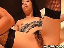 Oriental Lady In Reverse Of Birthing