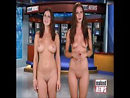 Laura Conner Takes Her Clothes Off - Compilation Of Naked News