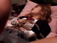 Submissive Japanese Schoolgirl Enjoys A Sex Toy And A Throb