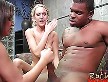 Lively Pornstar With Big Tits Giving Big Black Cock Hot Tit Job