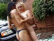 Bobbi Barrington And Rebecca Lord Lesbian Car Wash