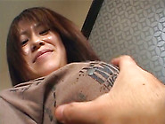 Busty Jap Milf Stretches Her Pussy Lips Exposing Throbbing Wet V