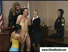 Court Room Justice Gets Served By Slutty Cfnm Chicks