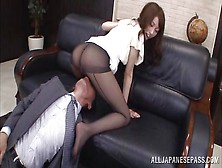 She Does Everything For Her Boss