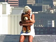 Blonde Slut Gets Nude The Roof Of Then Building