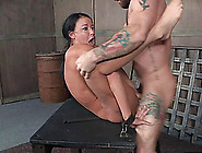 Tied Up Babe's Pussy Ravished By Her Kinky Masters