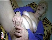 Solo Blonde Grandma Masturbates Hairy Box