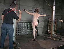 Small Tits Slave In Chains Having Her Nice Ass Spanked In Bdsm