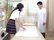 Lovely Japanese Gets Creampied During Erotic Voyeur Massage
