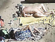 Two Horny Naked Couples On The Beach Fucked On My Voyeur Video