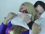Blonde Superwoman Captured And Fucked In Bondage