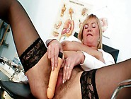 Bushy Vagina Of Rapacious Granny Irma Gets Drilled Wtih Dildo