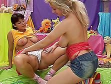 Pierced Clitoris Girlfriend Makes Love To A Sexy Lesbian