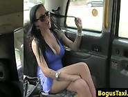 Real Brit Taxi Babe Spunked On Face After Doggystyle