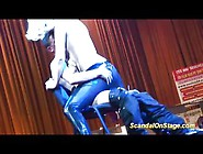 Hot Babes Sexy Lap Dance On Public Stage