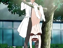 Nurse Used Outdoors By A Hentai Doctor