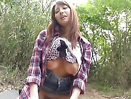 Japanese Milf Enjoys A Hardcore Fuck With A Horny Stud Outdoors