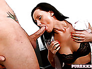 Black Haired Mature Slut In Stockings Got Doggy Attacked Rough