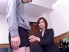 Japanese Office Girl Loves Playing With A Hard Cock