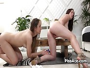 Lesbian Is Pissing Inside Speculum Open Pussy