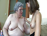 Old Nanny Nice Teen Is Licking Old Bbw Mature