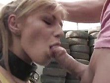 Jennifer Love Toys Two Joysticks In The Yard And Has Bumped Oust