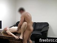Tall,  Foxy Lexi Auditions For Backroom Casting Couch With A Blow