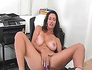 Attractive Adult Brunette With Large Tan Breasts Plays Toge
