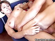 Hot Milf Takes It In The Ass From Her Sons Friend