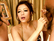 Busty Japanese Milf Meisa Hanai Gets Tit Cumshot After Dirty Blo