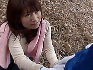 While Outdoors For A Hike This Japanese Girl Gives Her Man A Blo