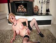Blonde Granny Dildoing