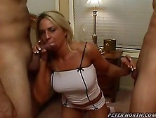 Blond Babe Sindy Lang Taking 2 Cocks In Her Mouth One At A Time
